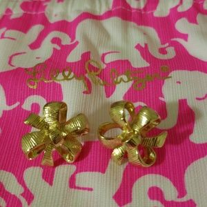 Lilly Pulitzer festive bow earrings 💝💝